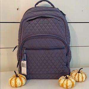 Vera Bradley Lg Essential Backpack in Carbon Gray